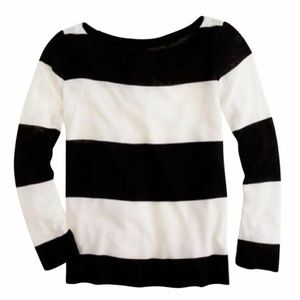 J. Crew rugby stripe boatneck top